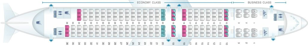 Seat Map and Seating Chart Boeing 737 800 Layout 162 Seats Oman Air