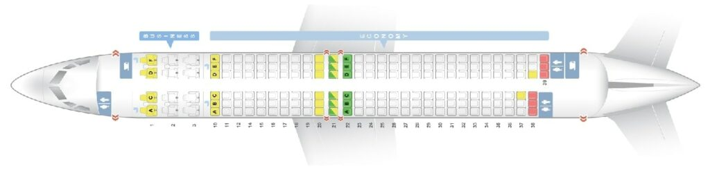 Seat Map and Seating Chart Boeing 737 900ER Oman Air