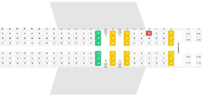 Seat Map and Seating Chart Boeing 737 MAX 8 Icelandair