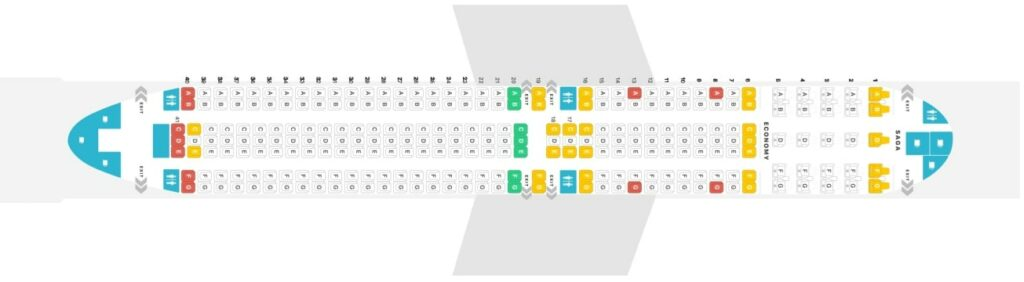 Seat Map and Seating Chart Boeing 767 300ER Icelandair