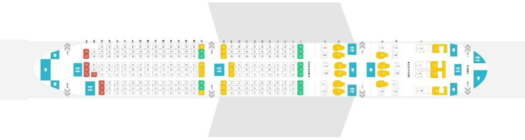 Seat Map and Seating Chart Boeing 787 9 Dreamliner Layout 264 Seats Oman Air