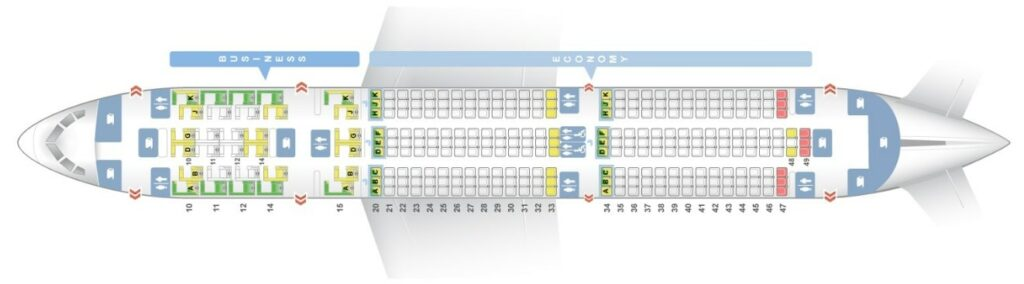 Seat Map and Seating Chart Boeing 787 9 Dreamliner Layout 288 Seats Oman Air