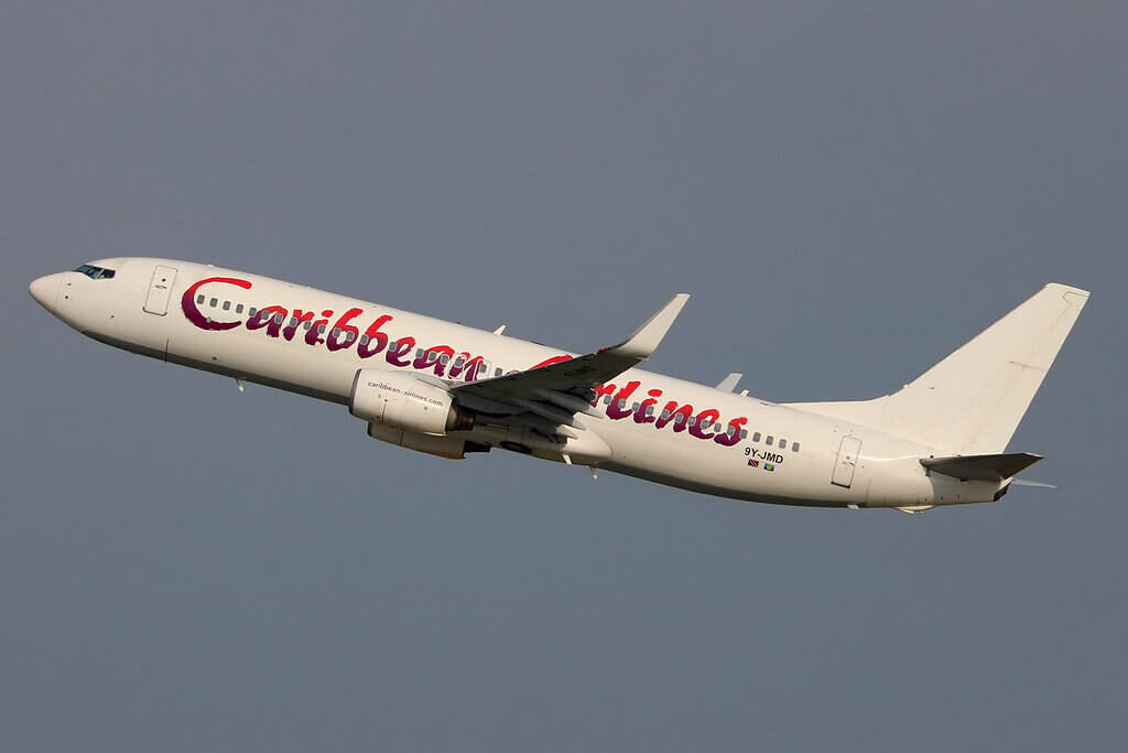 9Y JMD Boeing 737 8Q8W Caribbean Airlines at New York JFK