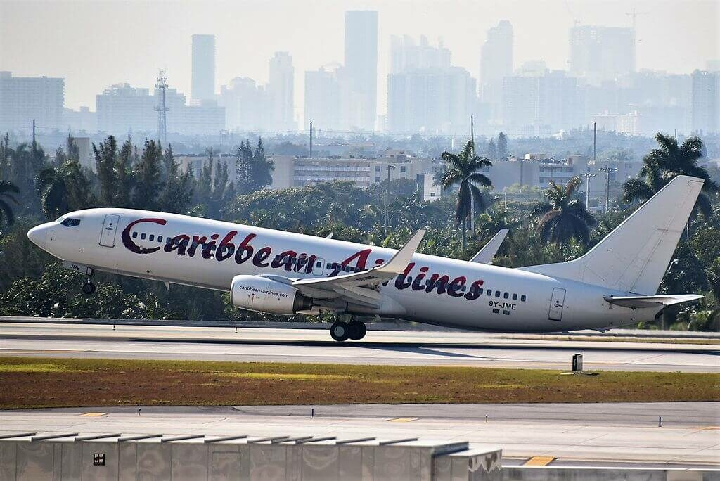 9Y JME Boeing 737 800 Caribbean Airlines at Fort Lauderdale – Hollywood International Airport
