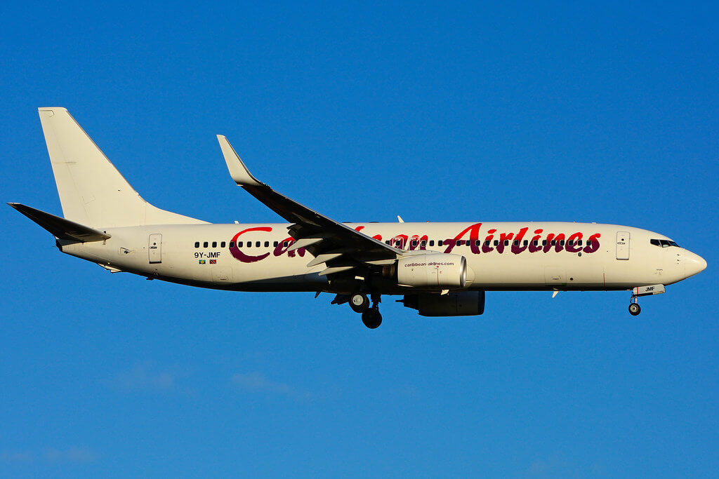 9Y JMF Boeing 737 8Q8W Caribbean Airlines leased from ILFC at Toronto Lester B. Pearson Airport YYZ