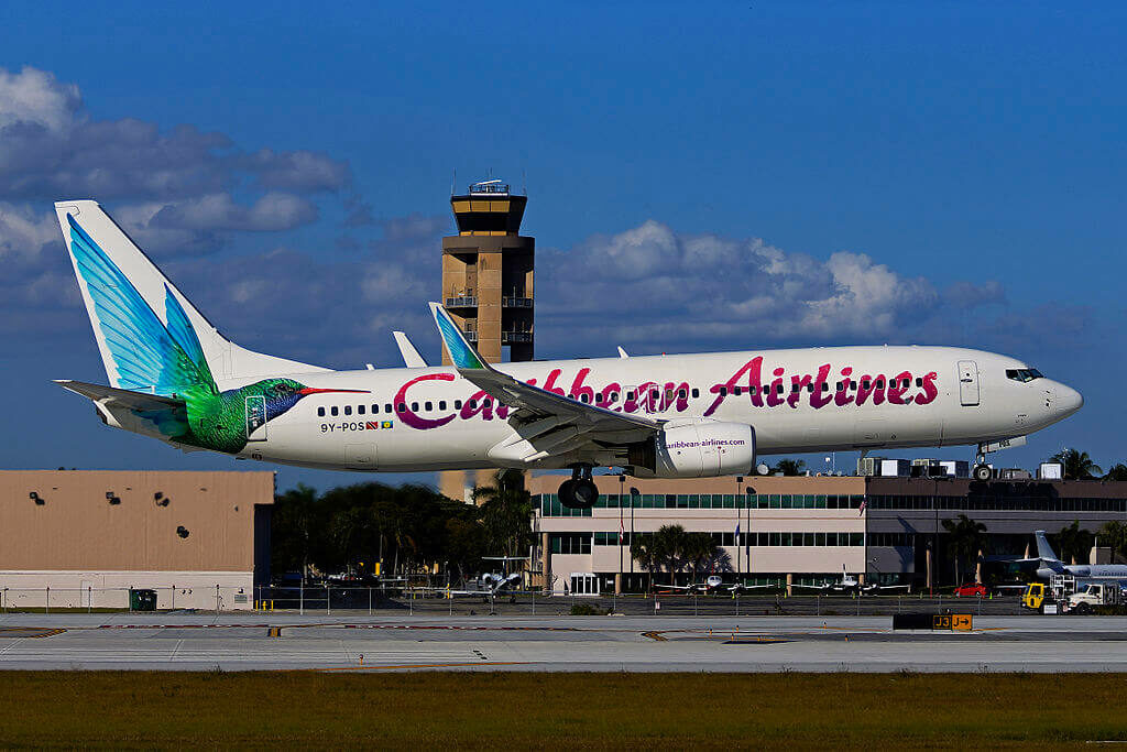 9Y POS Boeing 737 800 Caribbean Airlines at Fort Lauderdale – Hollywood International Airport