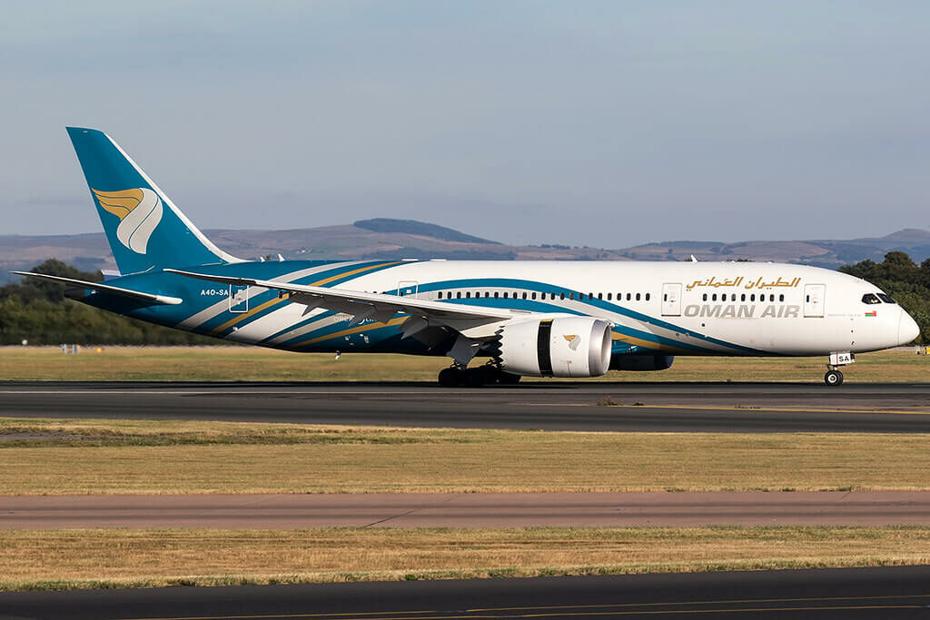 A4O SA Boeing 787 8 Dreamliner Oman Air at Manchester Airport