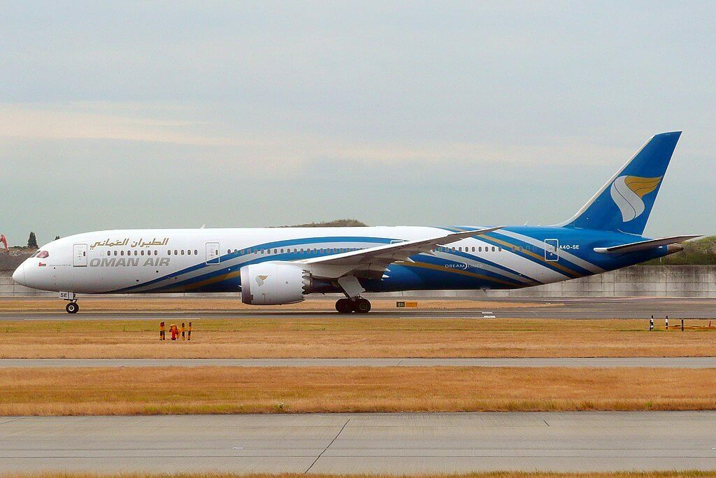 A4O SE Boeing 787 9 Dreamliner Oman Air at London Heathrow Airport