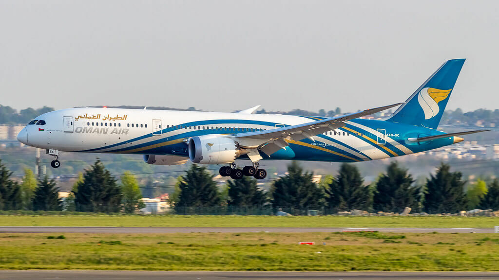 Boeing 787 9 Dreamliner A4O SC Oman Air at Charles de Gaulle Airport