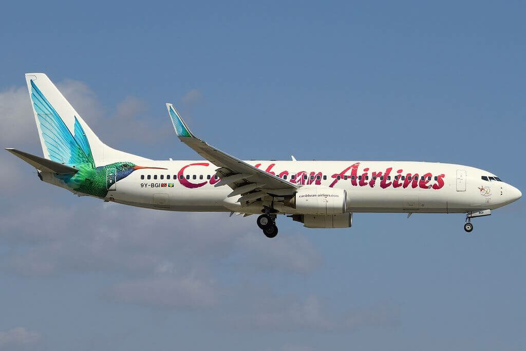 Caribbean Airlines 9Y BGI Boeing 737 800 at Miami International Airport
