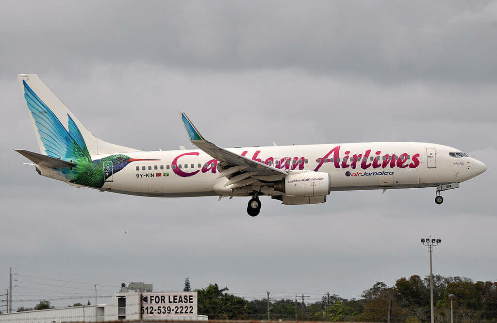 Caribbean Airlines 9Y KIN Boeing 737 800 at Fort Lauderdale – Hollywood International Airport