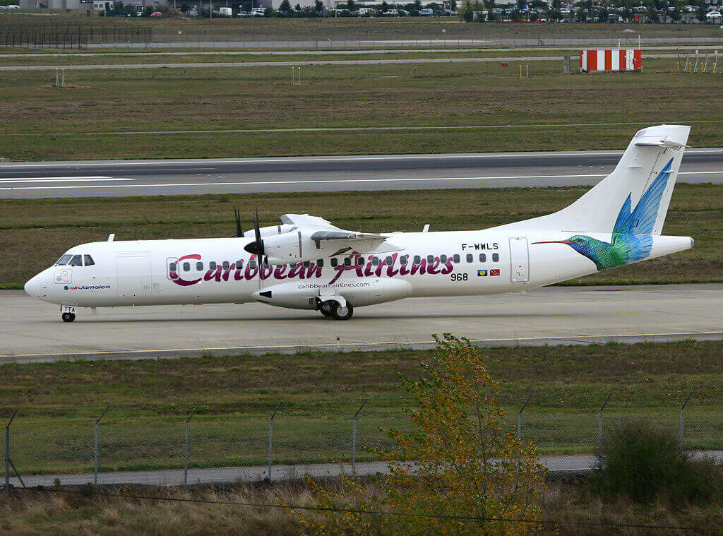 Caribbean Airlines 9Y TTA ATR 72 600 at TLS Airport