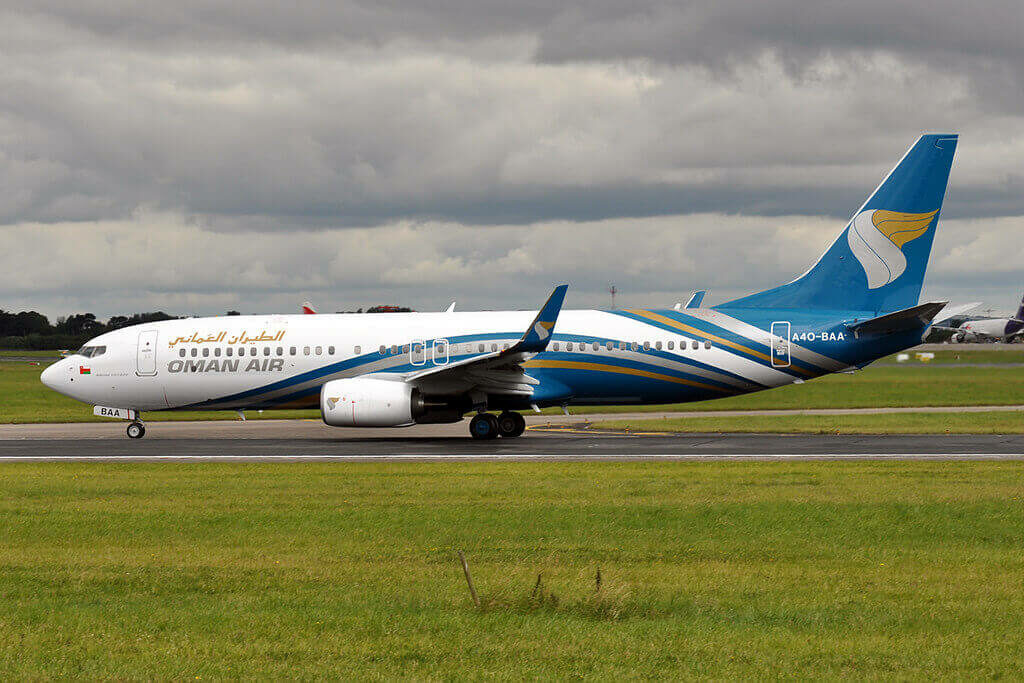 Oman Air A4O BAA Boeing 737 81MWL at Dublin Airport Ireland