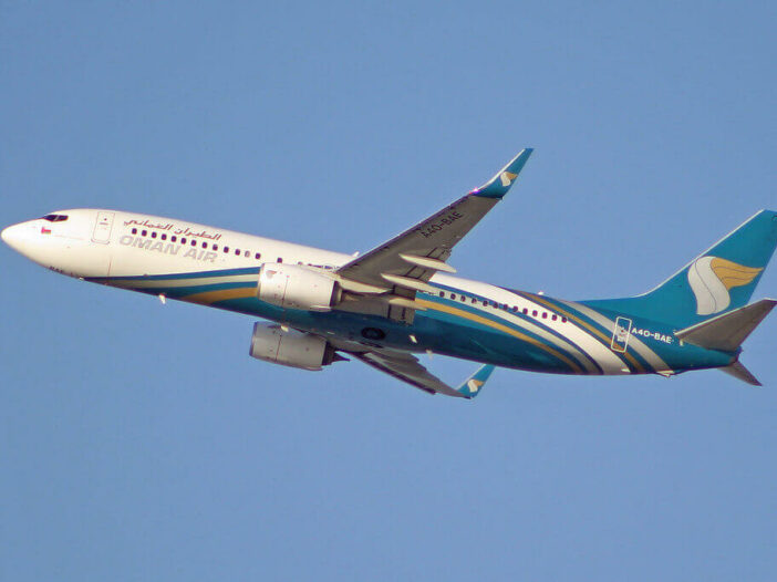 Oman Air A4O BAE Boeing 737 81MWL
