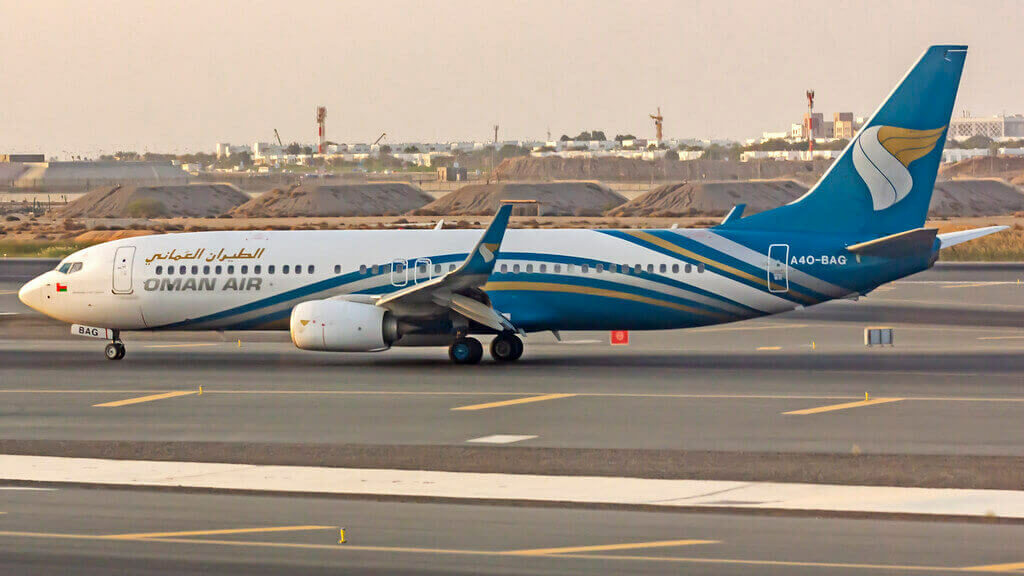 Oman Air A4O BAG Boeing 737 8SHWL at Muscat Airport
