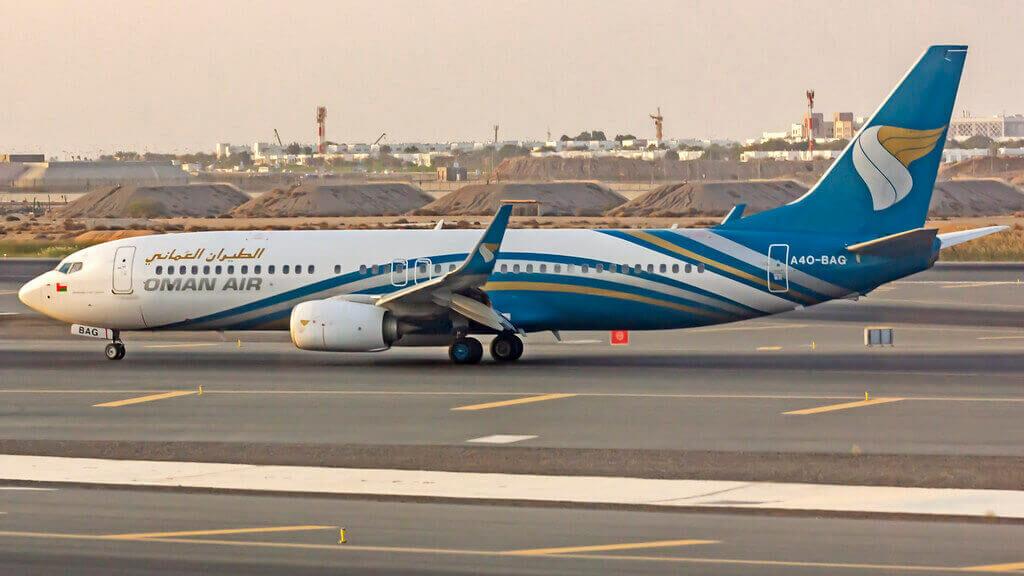 Oman Air A4O BAG Boeing 737 8SHWL at Muscat Airport