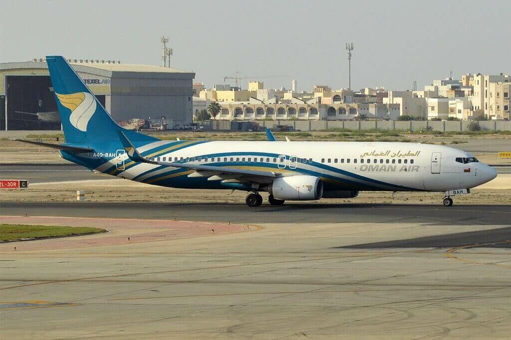 Oman Air A4O BAH Boeing 737 8SHWL