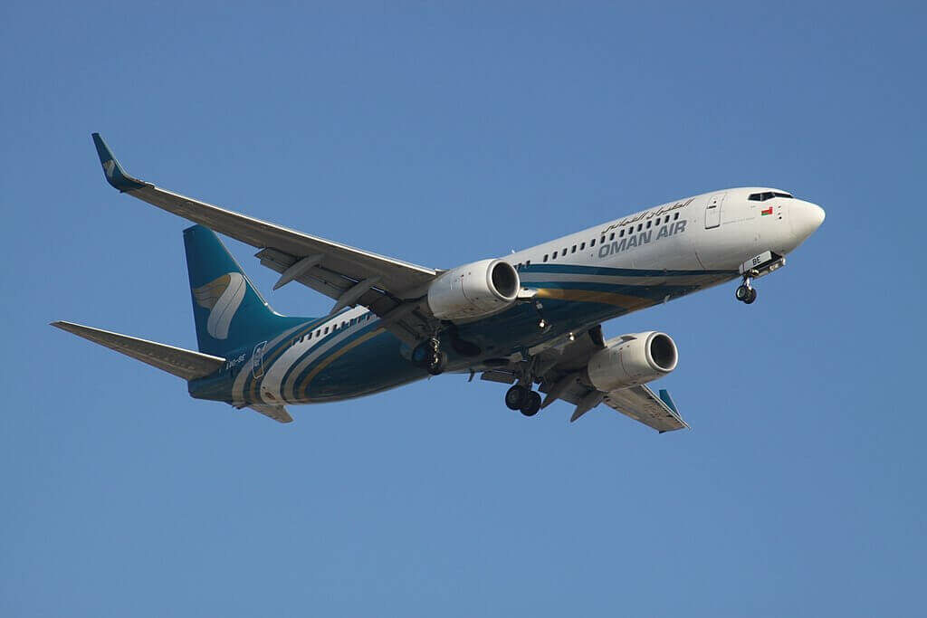 Oman Air A4O BE Boeing 737 81MWL at Dubai International Airport