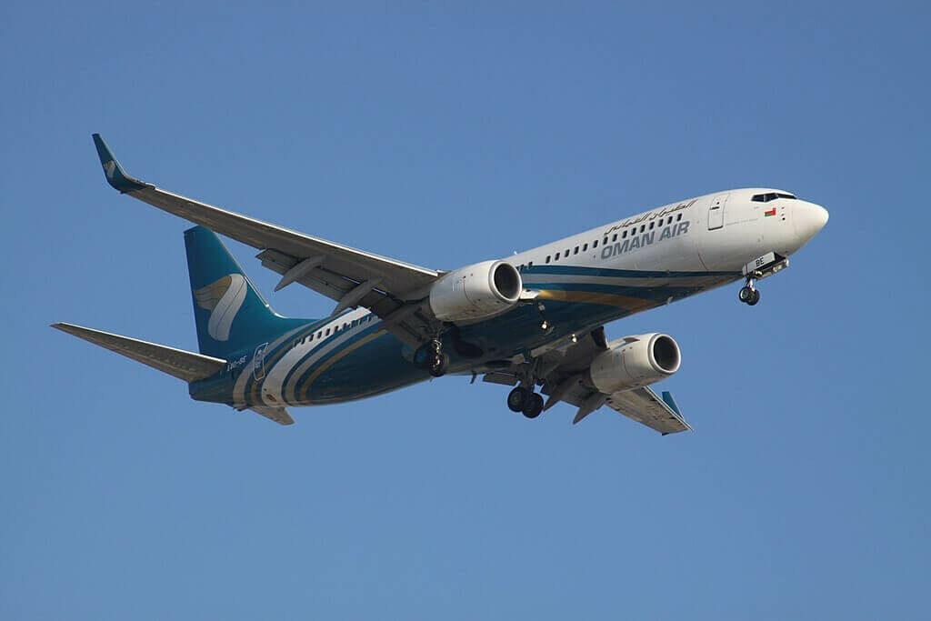 Oman Air A4O BE Boeing 737 81MWL at Dubai International Airport