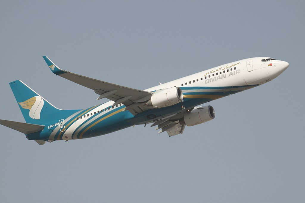 Oman Air A4O BG Boeing 737 8FZWL at Dubai International Airport