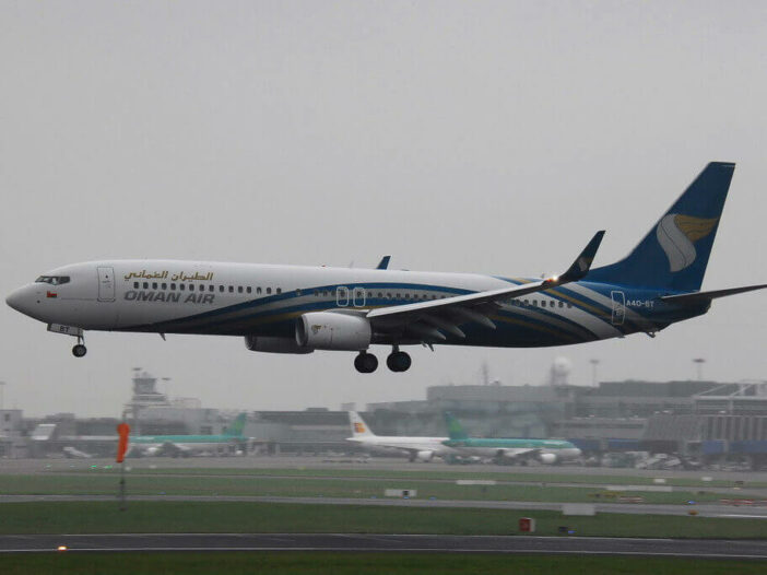 Oman Air A4O BT Boeing 737 91MERWL at Dublin Airport
