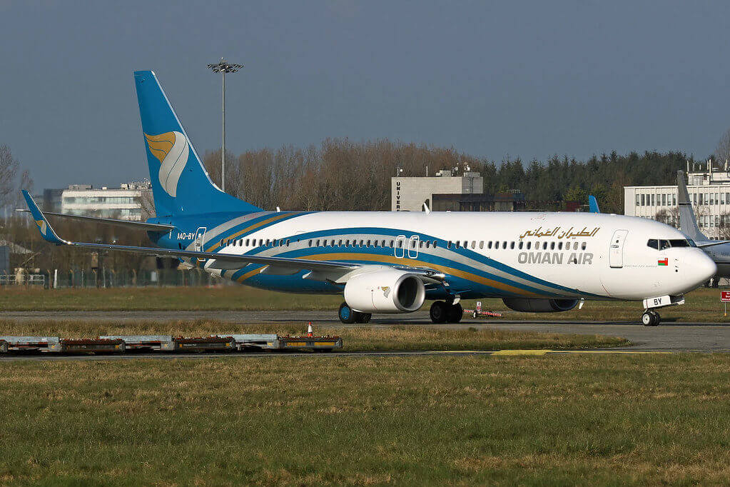 Oman Air A4O BY Boeing 737 91MERWL