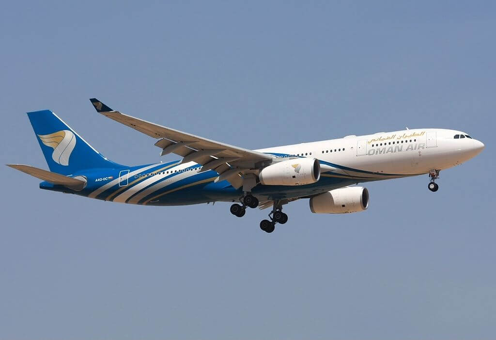 Oman Air A4O DC Airbus A330 243 at Muscat International Airport