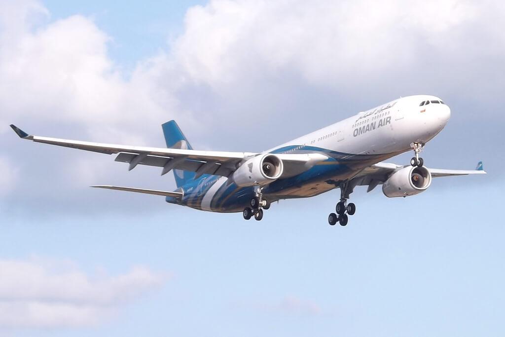 Oman Air A4O DD Airbus A330 343 at London Heathrow Airport