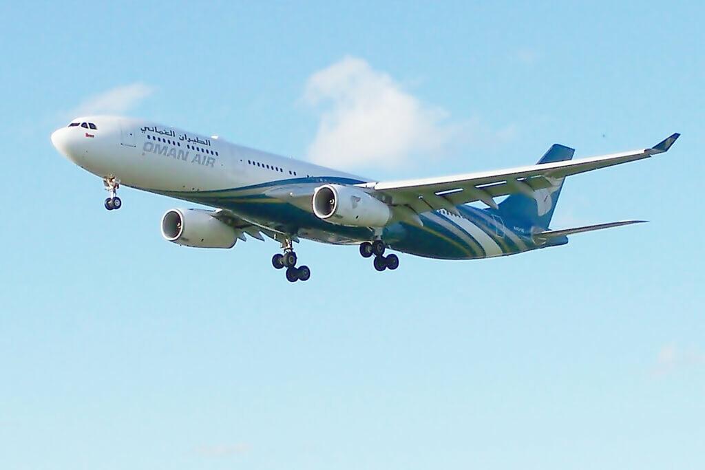 Oman Air A4O DE Airbus A330 343 at London Heathrow Airport