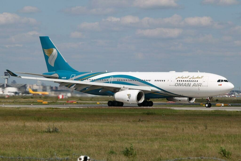 Oman Air A4O DF Airbus A330 243 at Frankfurt Airport
