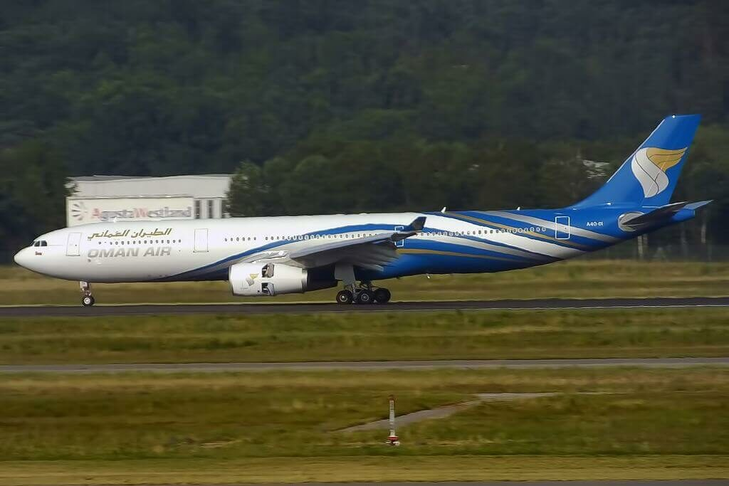 Oman Air A4O DI Airbus A330 343 at Milan Malpensa Airport