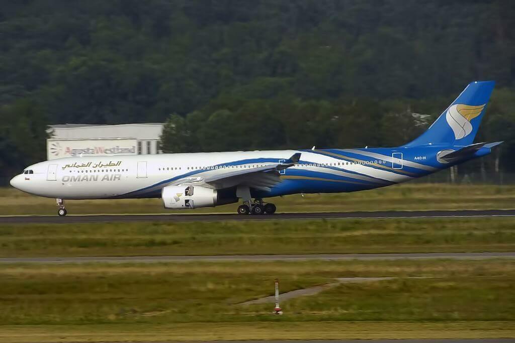 Oman Air A4O DI Airbus A330 343 at Milan Malpensa Airport