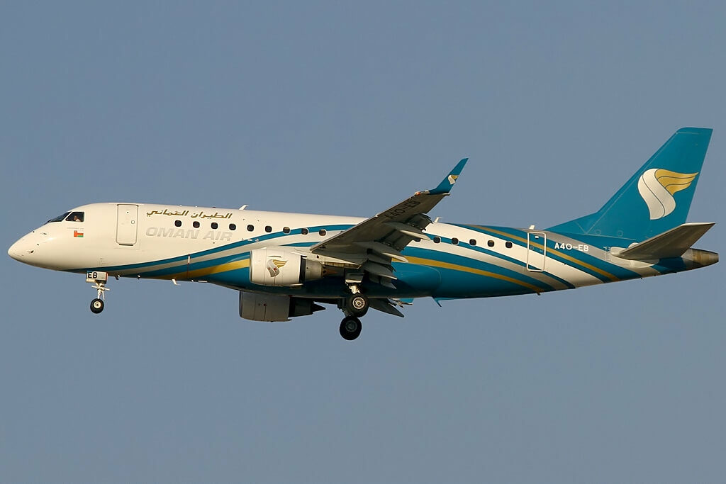 Oman Air A4O EB Embraer ERJ 175AR ERJ 170 200 IGW at Dubai International Airport