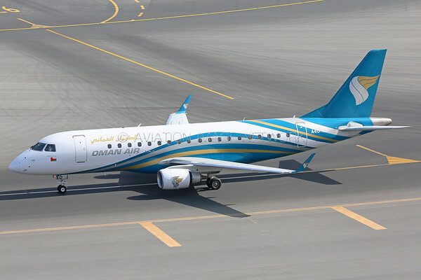 Oman Air A4O ED Embraer ERJ 175LR ERJ 170 200 LR