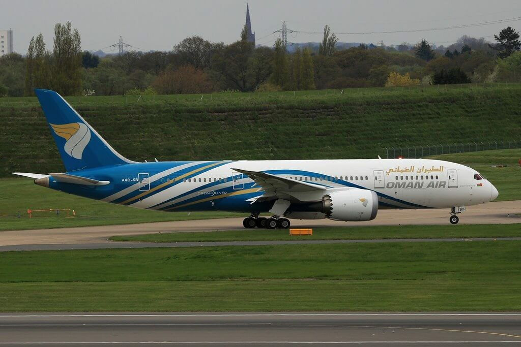 Oman Air A4O SB Boeing 787 8 Dreamliner at Birmingham Airport