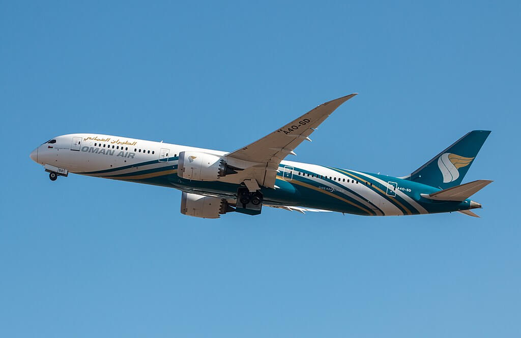 Oman Air A4O SD Boeing 787 9 Dreamliner at London Heathrow Airport