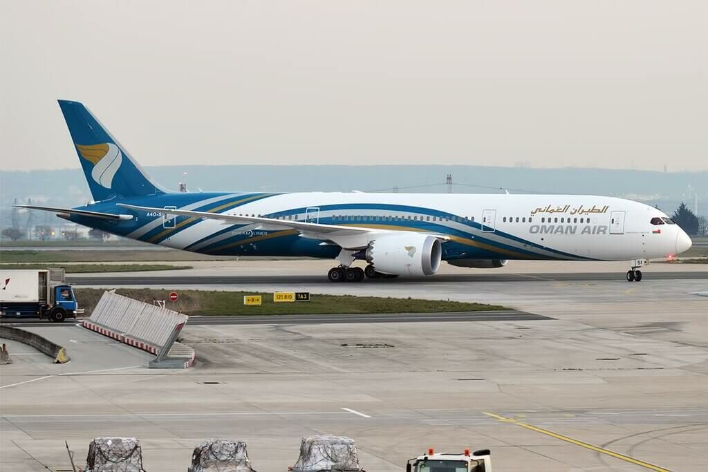 Oman Air A4O SI Boeing 787 9 Dreamliner at Paris Charles de Gaulle Airport