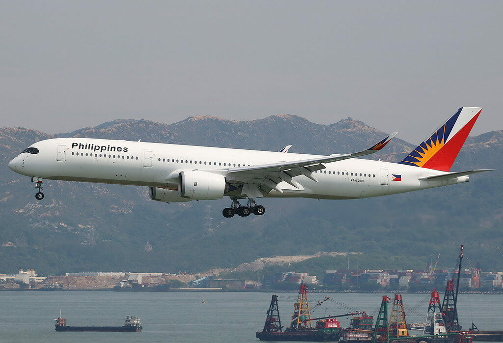 PAL Philippine Airlines RP C3501 Airbus A350 941 at Hongkong International Airport