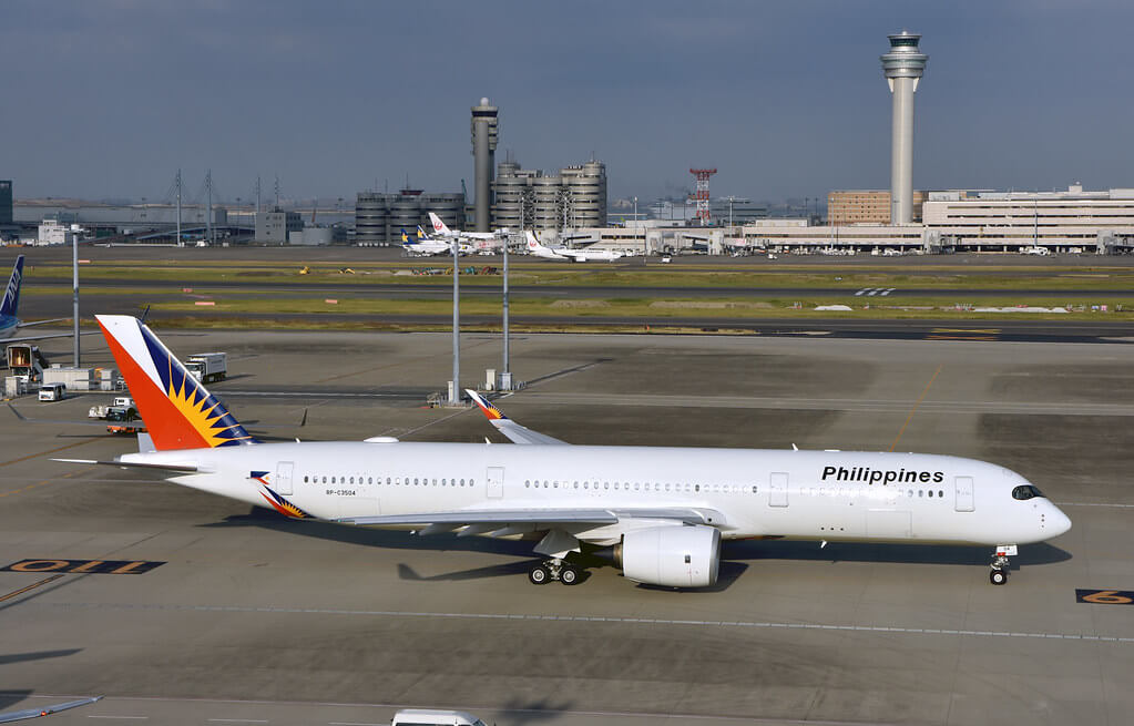 PAL Philippine Airlines RP C3504 Airbus A350 941 at Haneda Airport