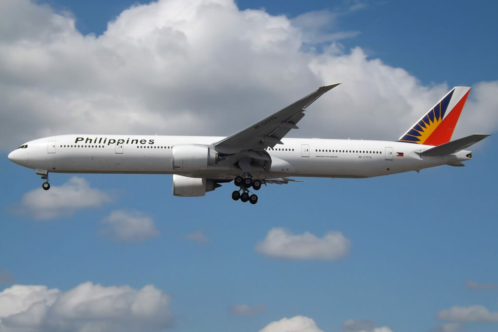 PAL Philippine Airlines RP C7773 Boeing 777 3F6ER at London Heathrow Airport