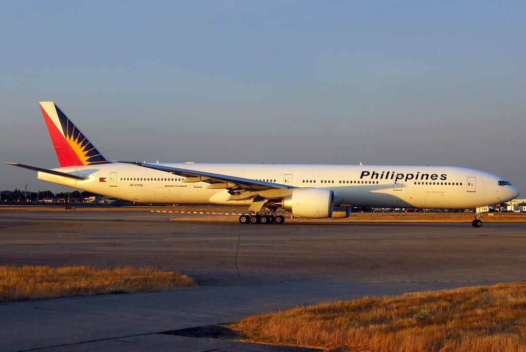 PAL Philippine Airlines RP C7782 Boeing 777 3F6ER at London Heathrow Airport
