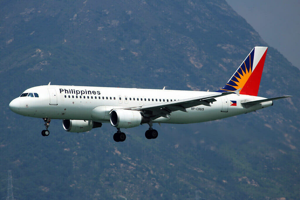 PAL Philippine Airlines RP C8619 Airbus A320 214 at Hongkong Airport