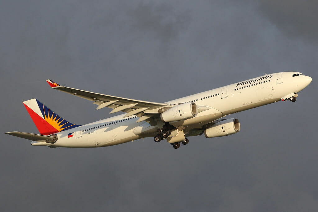 PAL Philippine Airlines RP C8771 Airbus A330 343 at Hongkong International Airport