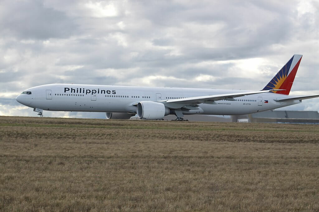 PAL Philippines Airlines RP C7776 Boeing 777 36NER at Melbourne Tullamarine