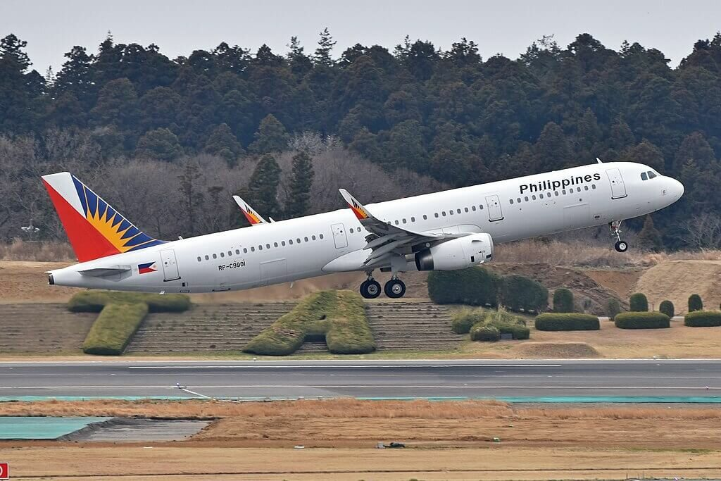 PAL Phillipine Airlines RP C9901 Airbus A321 231WL at Narita International Airport