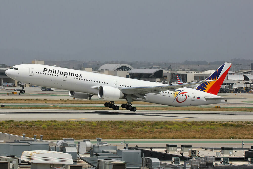 Philippine Airlines 75 Year anniversary logo RP C7778 Boeing 777 3F6ER at LAX
