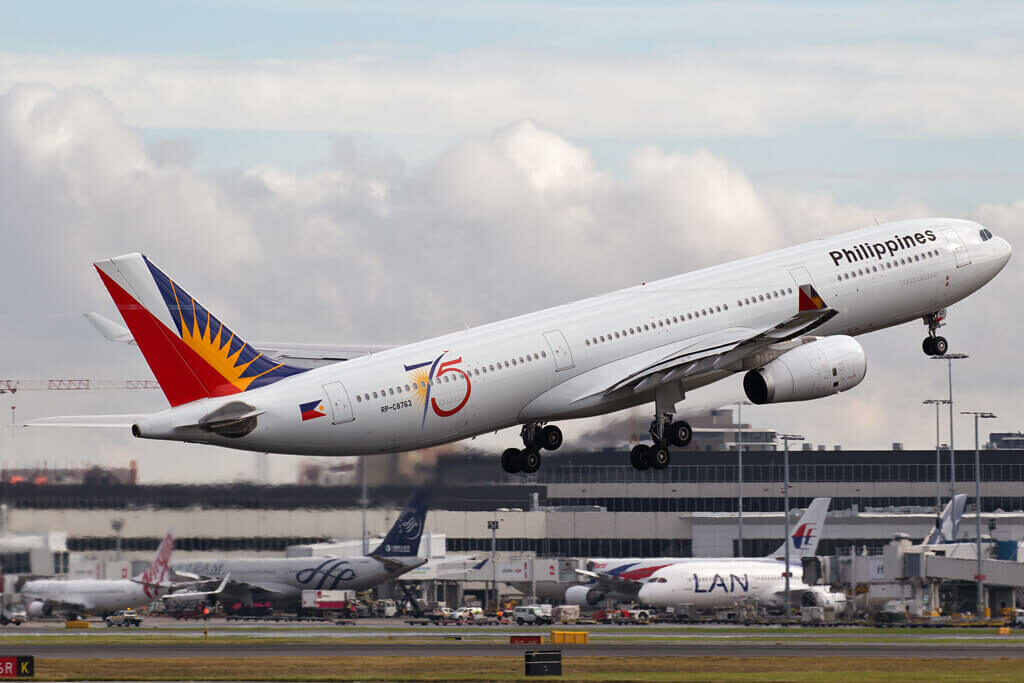 Philippine Airlines RP C8763 Airbus A330 343 at Sydney Airport