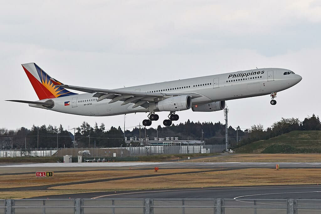 Philippine Airlines RP C8766 Airbus A330 343 at Narita International Airport