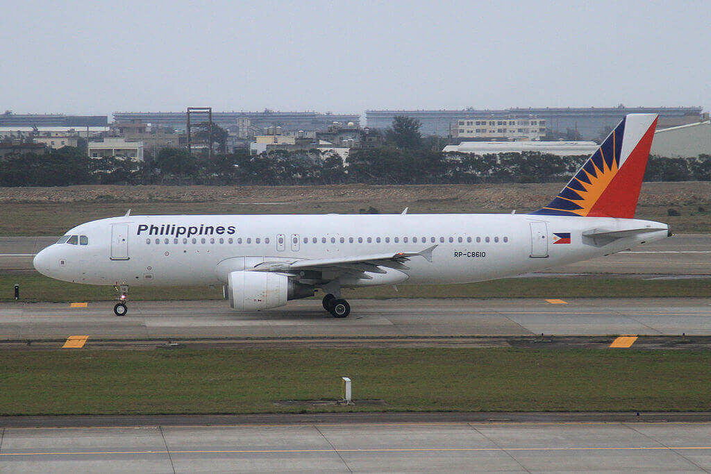 RP C8610 Airbus A320 214 Philippine Airlines at Taiwan Taoyuan International Airport