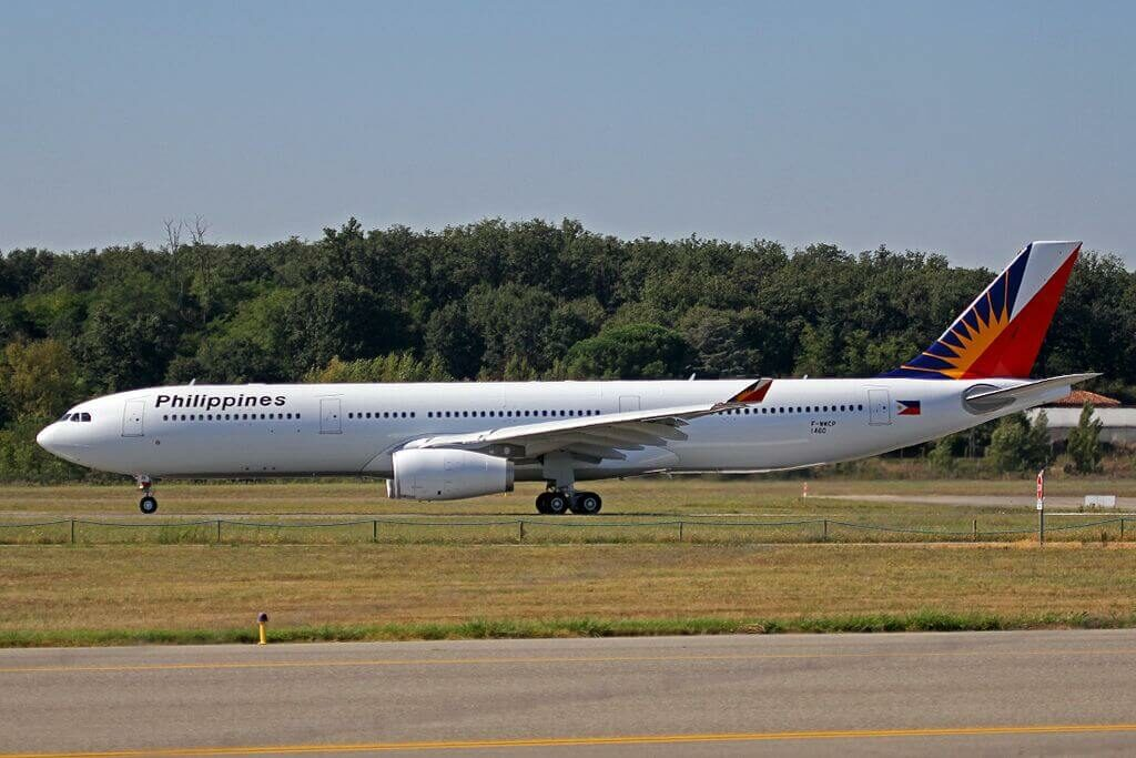 RP C8781 Airbus A330 343 Philippine Airlines at Toulouse Blagnac International Airport